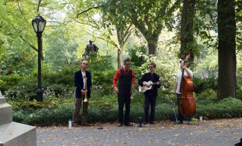 """Tin Pan"" playing in Central Park"