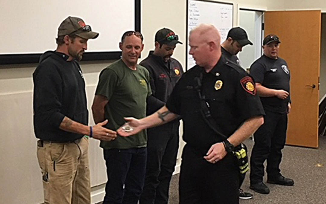 Challenge Coins Awarded | Siuslaw Valley Fire & Rescue