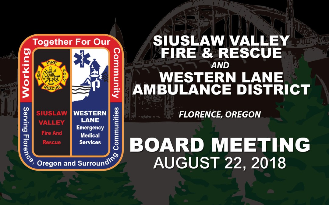 SVFR/WLAD Board Meeting – August 22, 2019