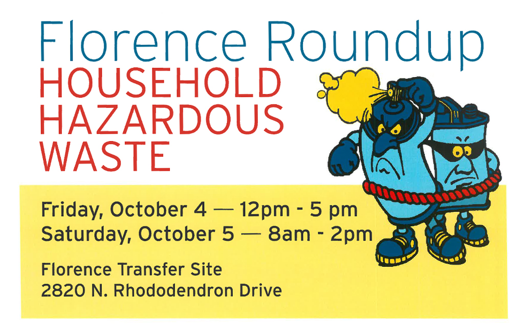 Florence Roundup – Household Hazardous Waste