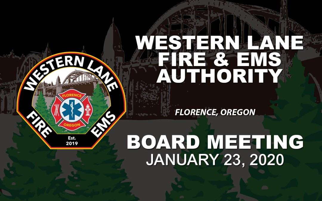 WLFEA Board Meeting – January 23, 2020