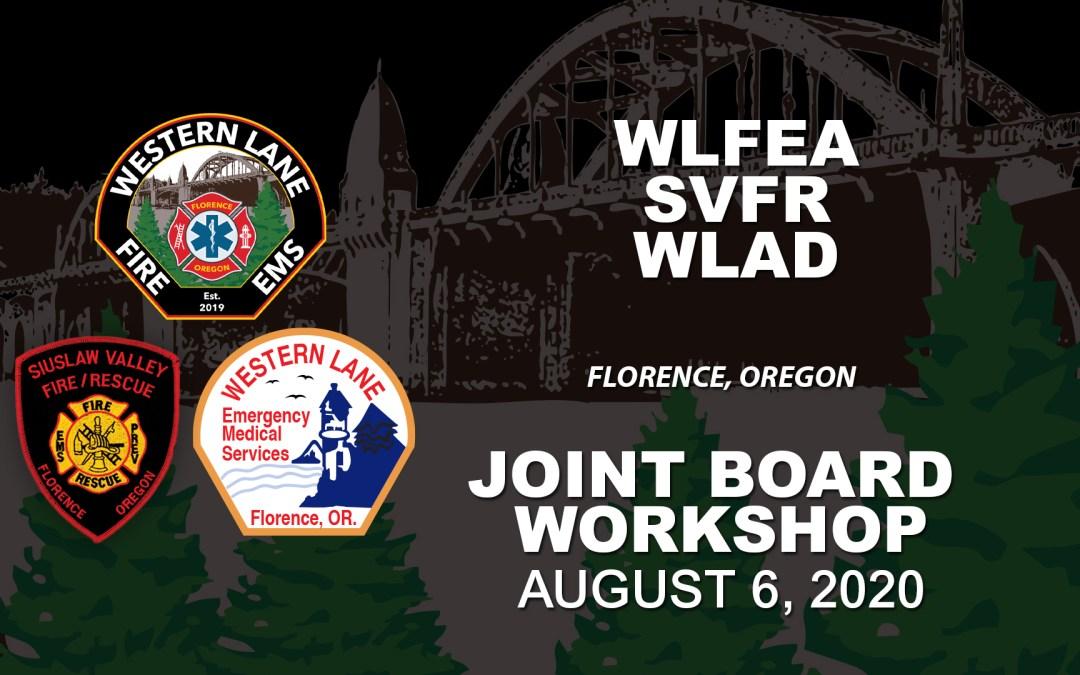 WLFEA/SVFR/WLAD Joint Board Workshop – August 6, 2020