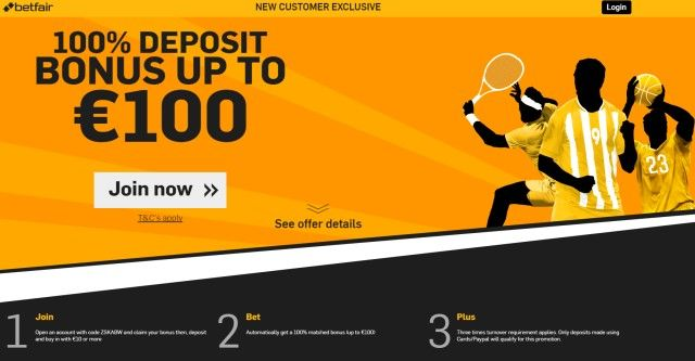 Betfair BONUS od 100€ za nove korisnike!