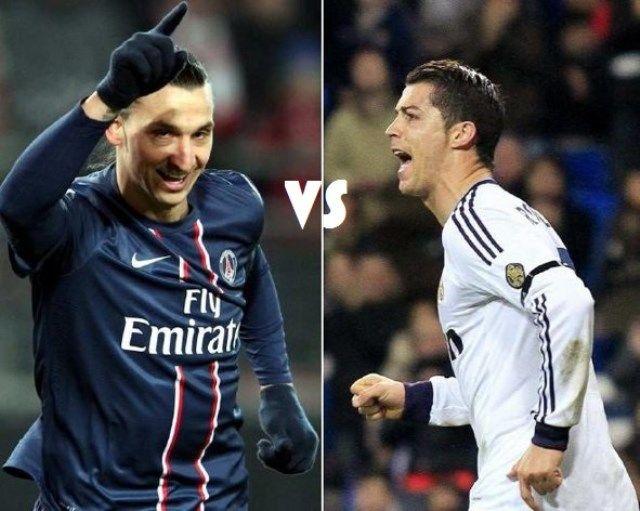 PSG - Real Madrid, Ibrahimović-Ronaldo
