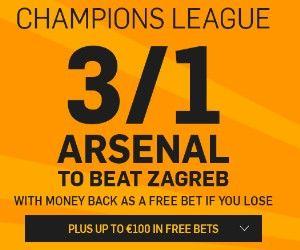 4,00 na Arsenal