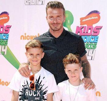 David Beckham sa sinovima