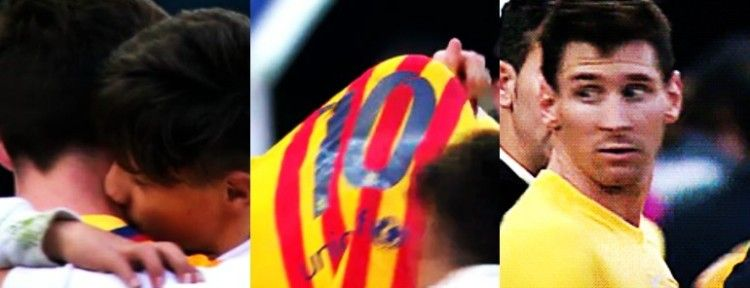 Messi dao dječaku svoj dres