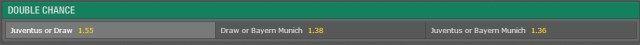 Juventus - Bayern Munchen 1X