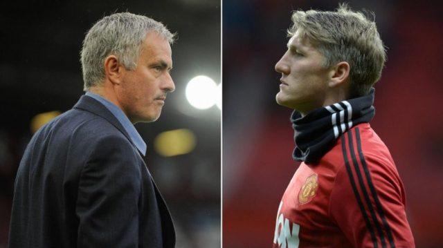 Mourinho i Schweinsteiger