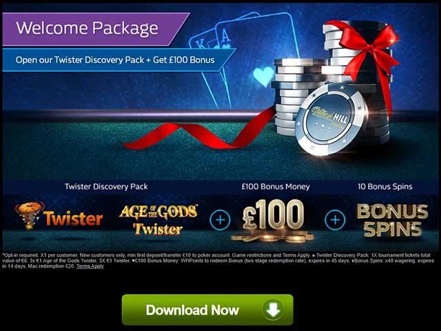 william hill poker no deposit bonus