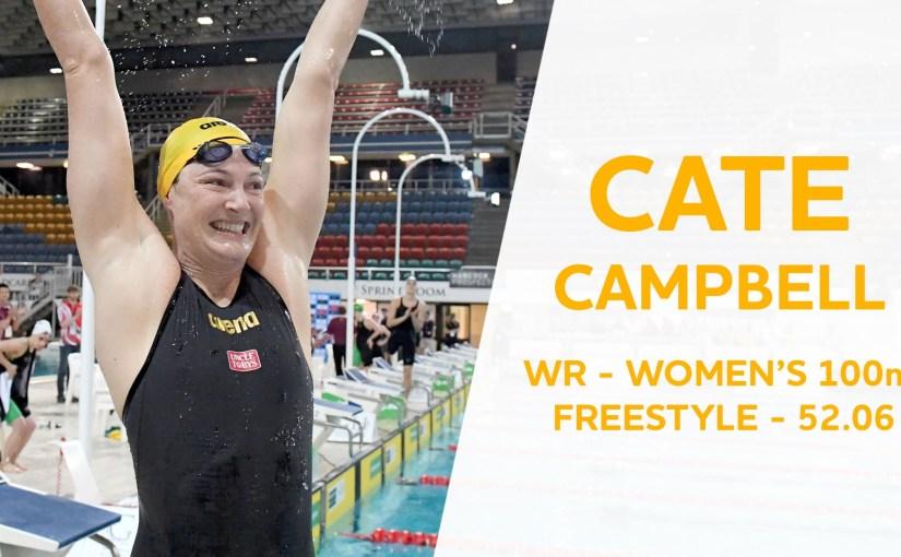 Cate Campbell 52.06 og nýtt heimsmet í 100 frí