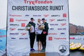 Nr. 1: Nicklas Frach, 21,46 (Tyskland). Nicklas vandt også i 2017. Nr. 2: Anton Ørskov Ipsen (Sigma Swim Birkerød), 22,01 (til højre). Nr. 3: Óli Mortensen (Hovedstadens Svømmeklub), 23,38 (til venstre).
