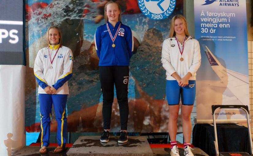Signhild 1:01.21 og gull á NM 2019 í Tórshavn