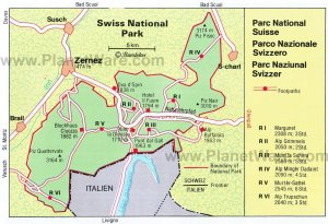 Swiss National Park Map