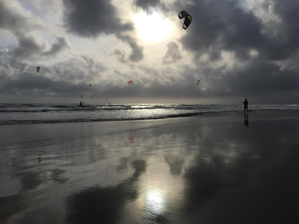 Evening Kiteboarding, La Grande Motte Beach