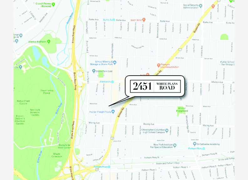 2451 White Plains Road_map