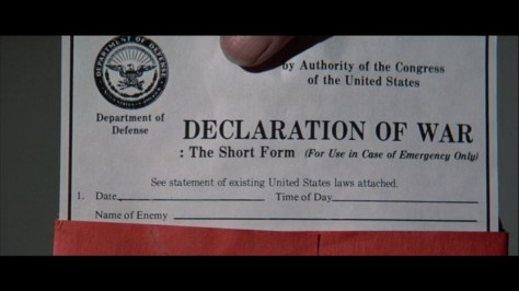 Declaration of war, the short form from buckaroo banzai, adventures across the 8th dimension