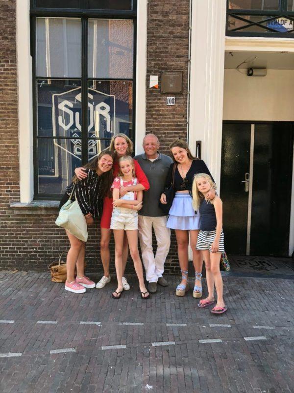 Met Puck en Claire in Leiden