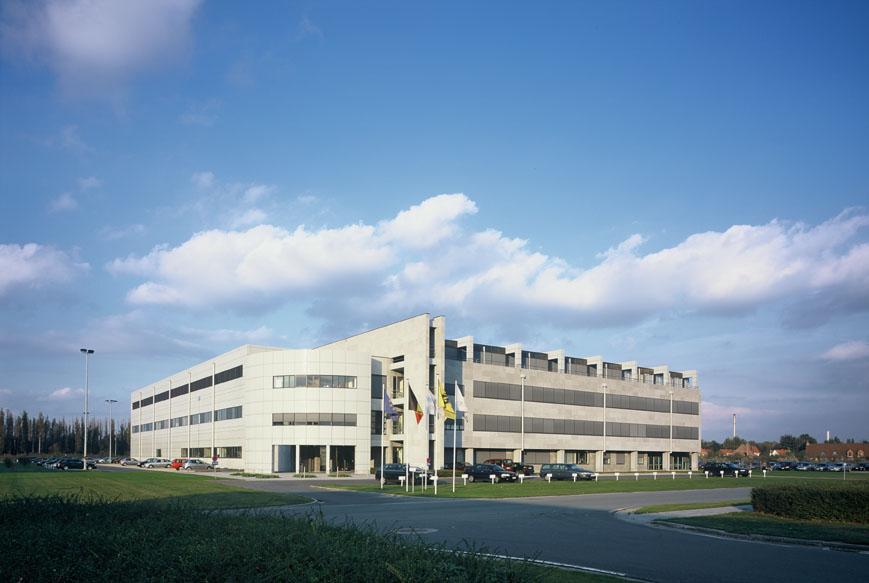 Nieuwbouw kantoren en productiehal Innogenetics, Nazareth, laboproject en kantoorgebouw SVR-ARCHITECTS