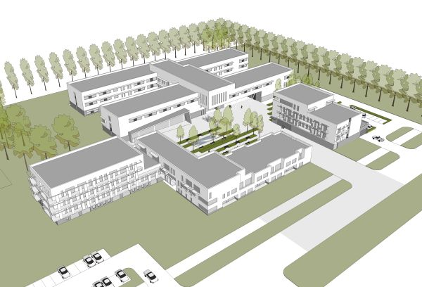 Nieuwbouw WZC, nursing flats en polykliniek Hof Ter Schelde, project gezondheidszorg SVR-ARCHITECTS