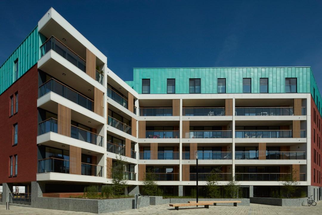 New construction, residential apartments DijleDelta district, project developer Virix, Leuven