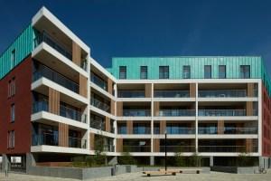 Nieuwbouw, residentiële appartementen Stadswijk DijleDelta, projectontwikkelaar Virix, Leuven