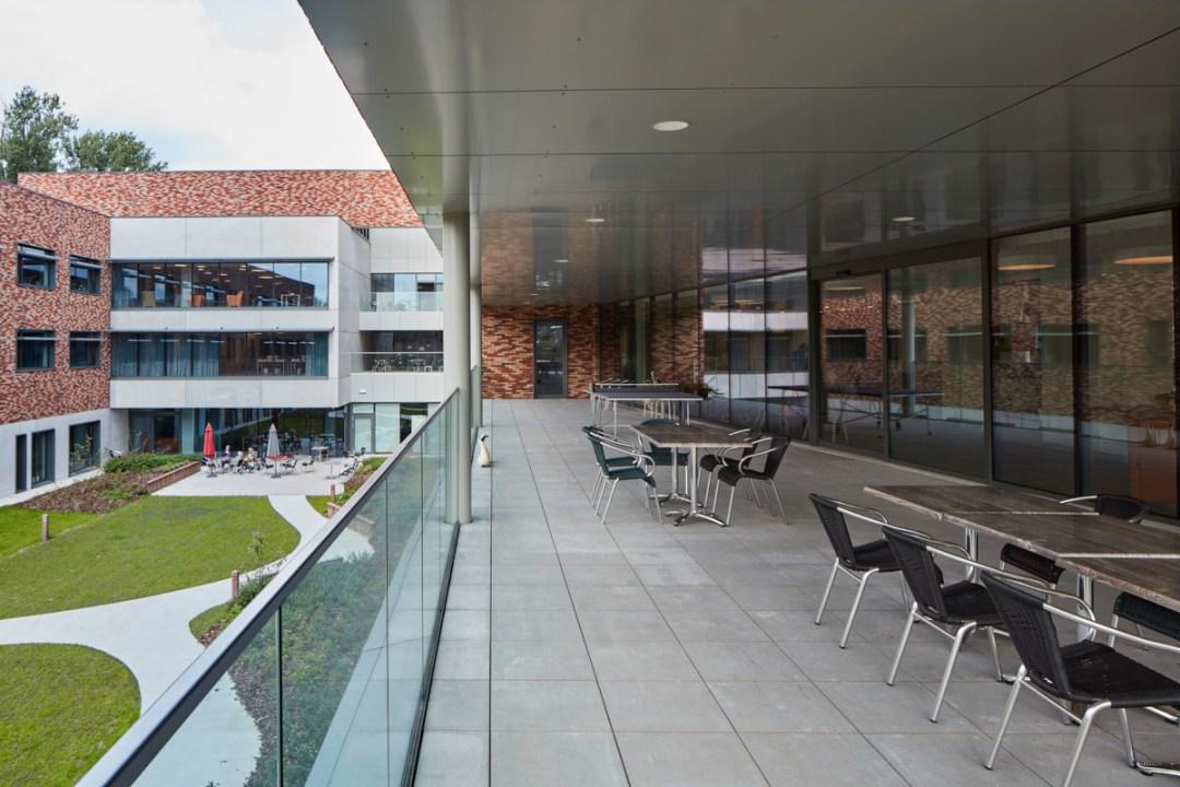 Binnenkoer Woon- en Zorg-Campus Hof Ter Schelde, Antwerpen Linkeroever