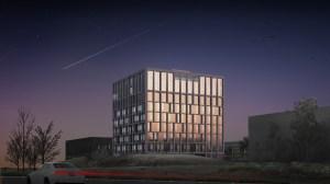 Wedstrijdontwerp VIB HQ en Bio-incubator-9 verdiepingen