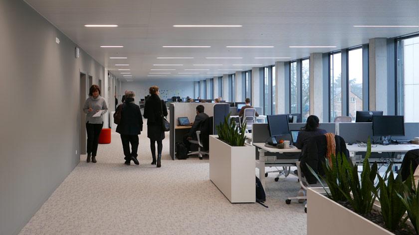 Interieur kantoren Hoofdzetel Eternit