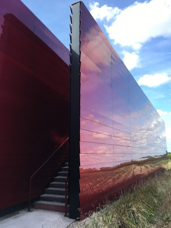 Les racines du vin rouge dans la peau du bâtiment - Jonathan Denoiseux