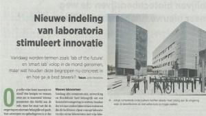 Nieuwe indeling van-laboratoria stimuleert innovatie