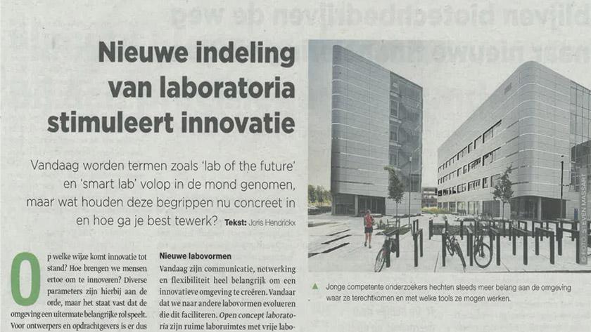 Nieuwe indeling van laboratoria stimuleert innovatie