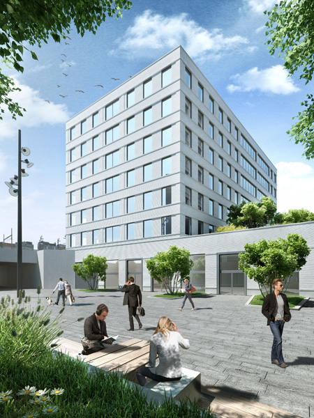 Offices, residential accommodation, retail, underground car park