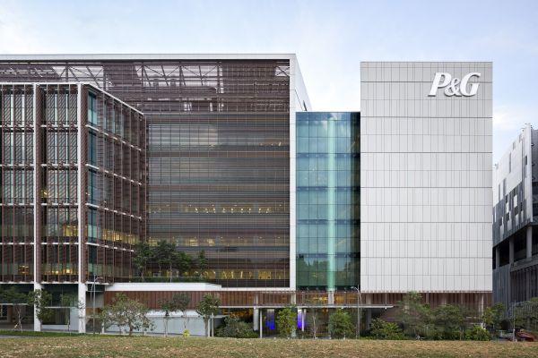 Buitenaanzicht Singapore Innovation Center (SIC) voor Procter & Gamble