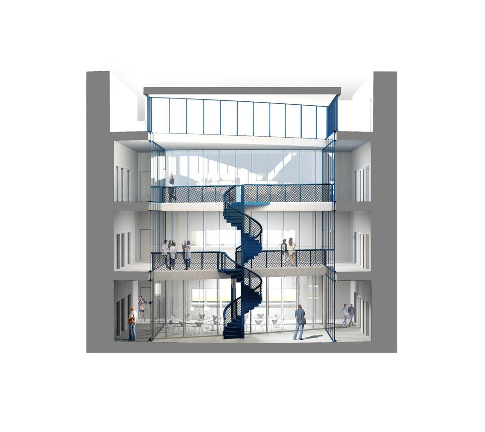 Interieurschets Arenberg_Accelerator Wetenschapspark Leuven