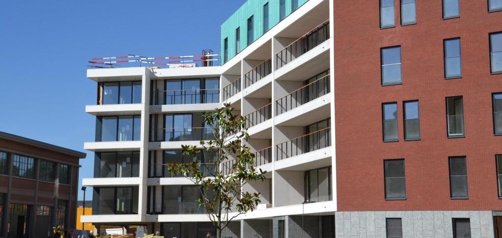 """Residentiële appartementen """"Eiland en feestzaal"""", Stadswijk DijleDelta, Leuven"""