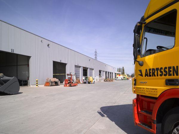 Logistiek hoofdzetel bouwbedrijf Aertssen