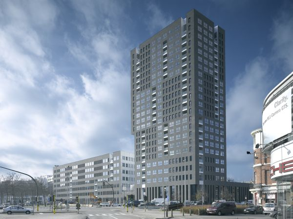 Nieuwbouw residentieel complex London Tower, project huisvesting SVR-ARCHITECTS
