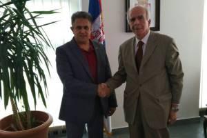 Miletić sa ambasadorom Srbije u Albaniji, foto: M.M.