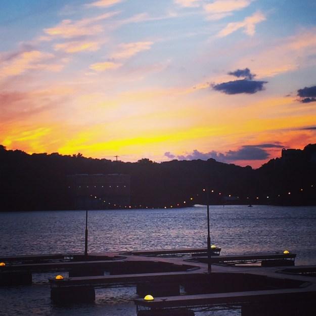 Sunset at Hula Hut - spectacular.