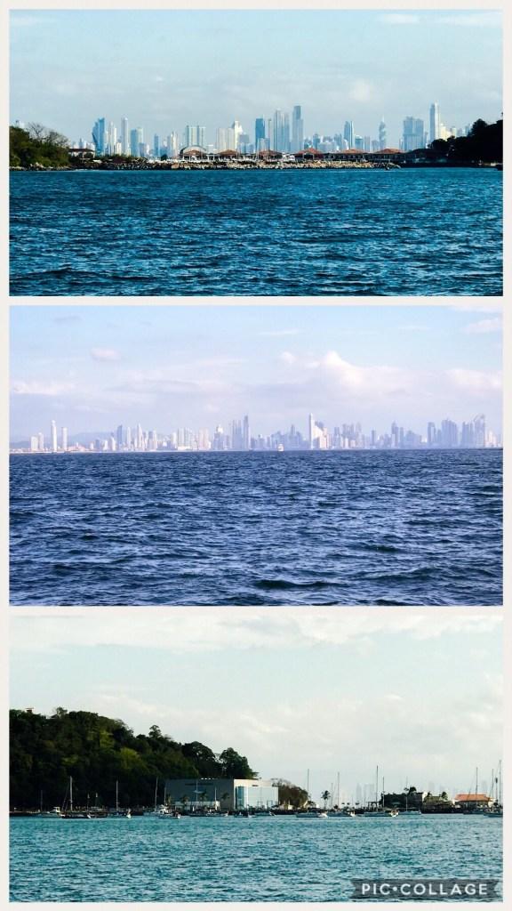 View of Panama City and La Playita on the bottom