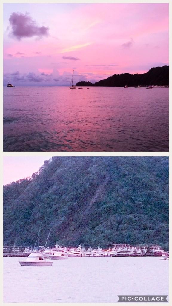 Sunset at Bahia Herradura and a shot of Los Suenos