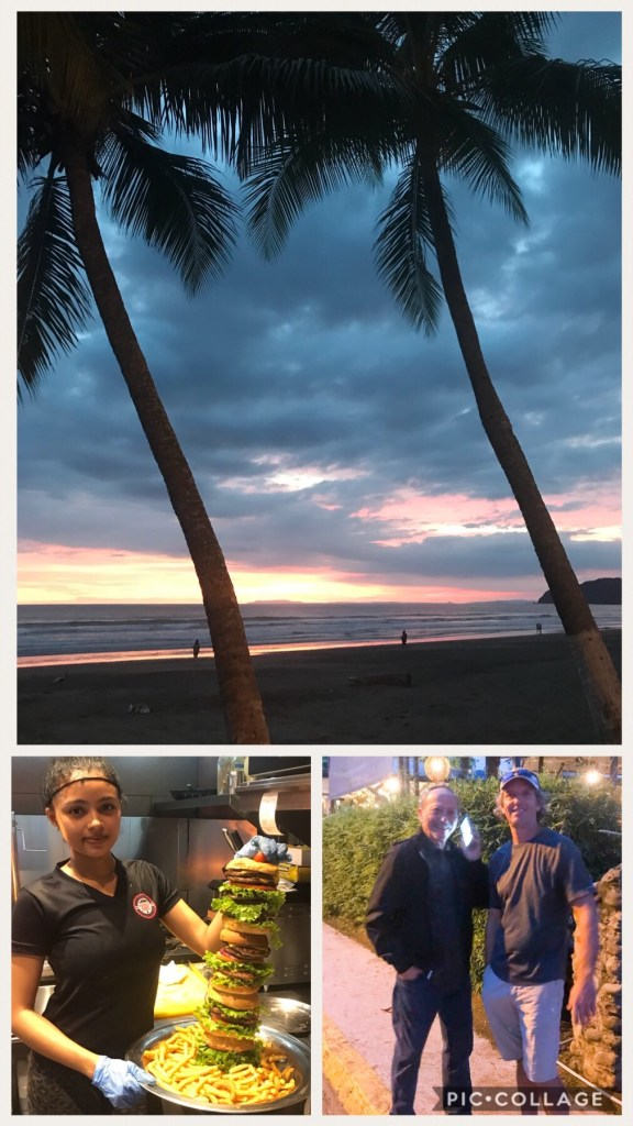 Dinner in Jaco with my Dad