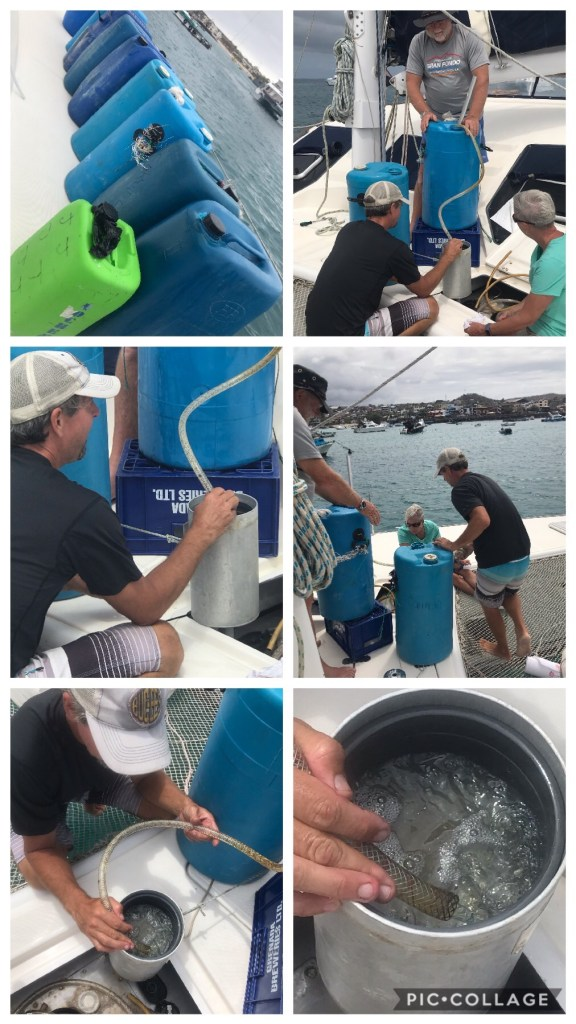 Refueling in Galapagos