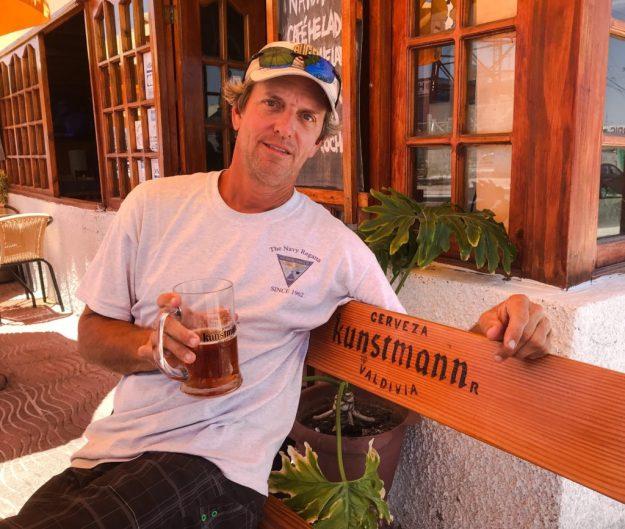 Matt enjoying a Kuntsman Beer