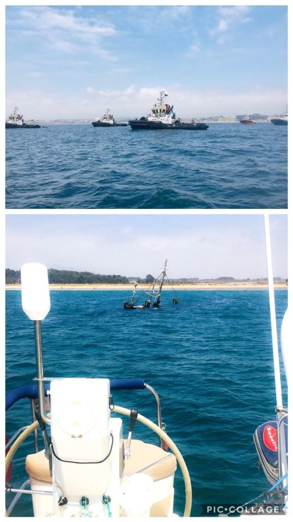 Tug Boats and a Wreck Quintero
