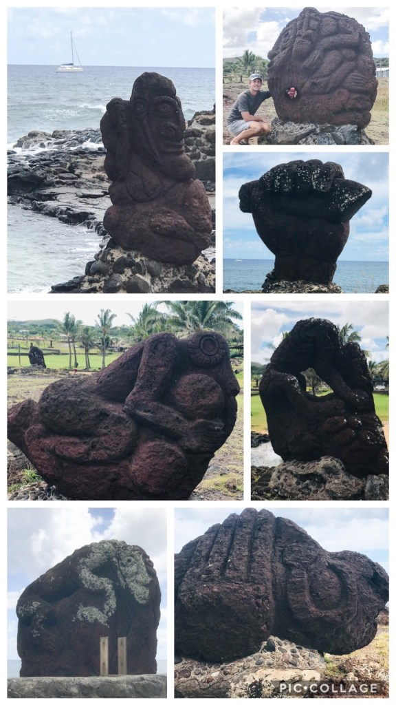 Carved Volcanic Rock Statues