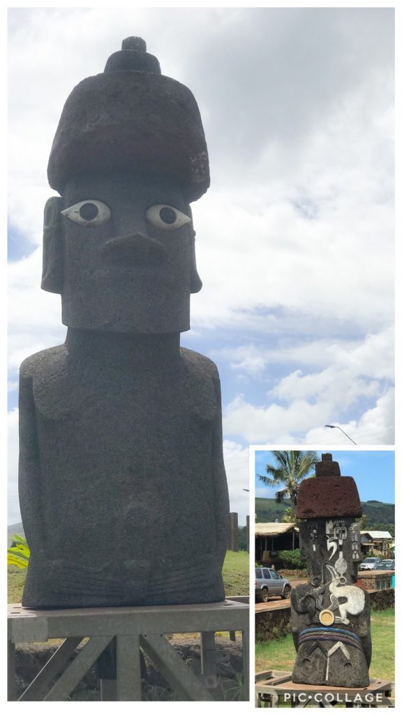 MOAI with designs on front and back