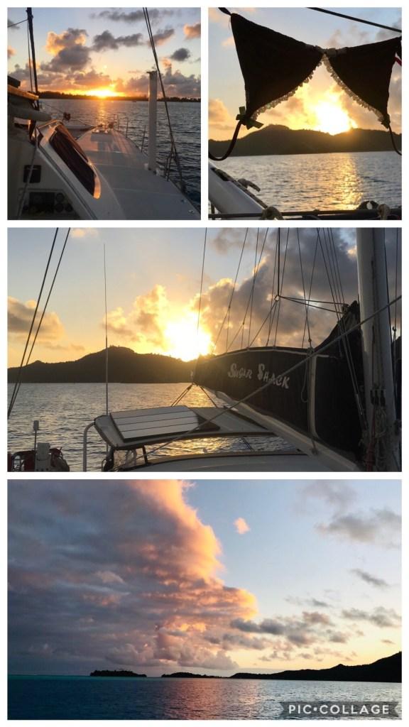 Sunsets in Bora Bora
