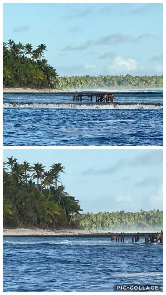 Surge and reef at Teti'aroa